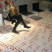 Tryckt nålfiltsmatta golv matta mässmatta montermatta