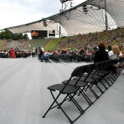 Markskydd markväv framför scen festival event