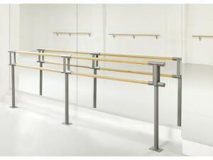 Fast balettstång Pina Fix, golvmonterad dubbla stänger