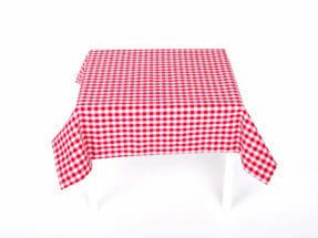 Flamskyddad bordsduk rutig