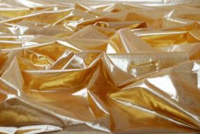 Glansig organza flamskyddad tyg textil