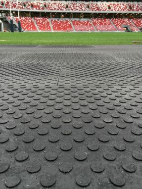 Körplatta på fotbollsstadium