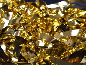Glitterridå Dekortyg i guld