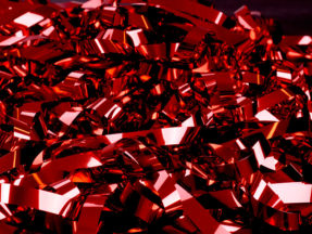 Röd Glitterridå Dekortyg