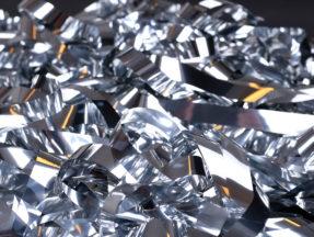 Glitterridå silver, dekortyg
