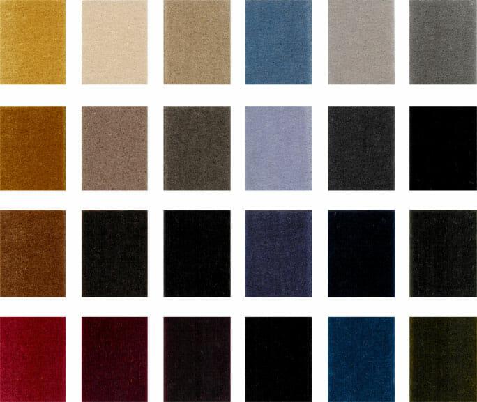 Ljudabsorberande sammet textil flamskyddad