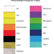 Festivalarmband Plast