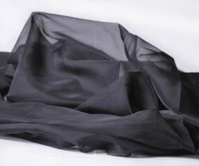 Voile svart flamskyddad