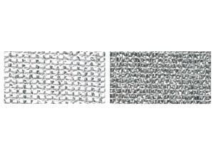 Nätväv silver flamskyddad