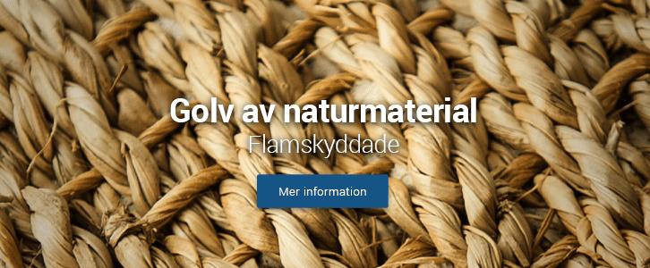 golv sjögräs sisal lin flamskyddat natur