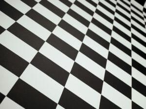Rutig flamskyddad matta mässmatta plastmatta