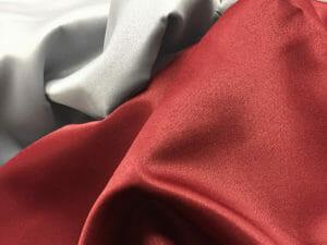 satin flamskyddad textil bred