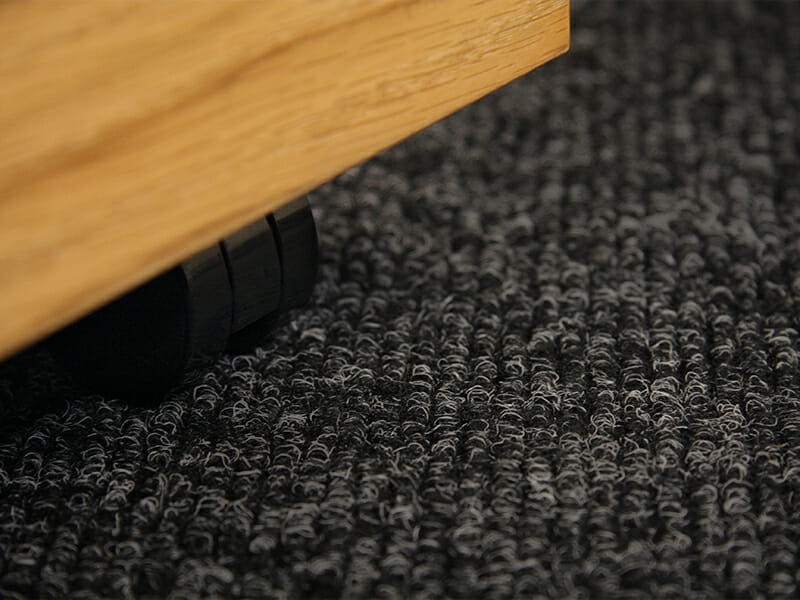 Textilplatta ribbad Antracit